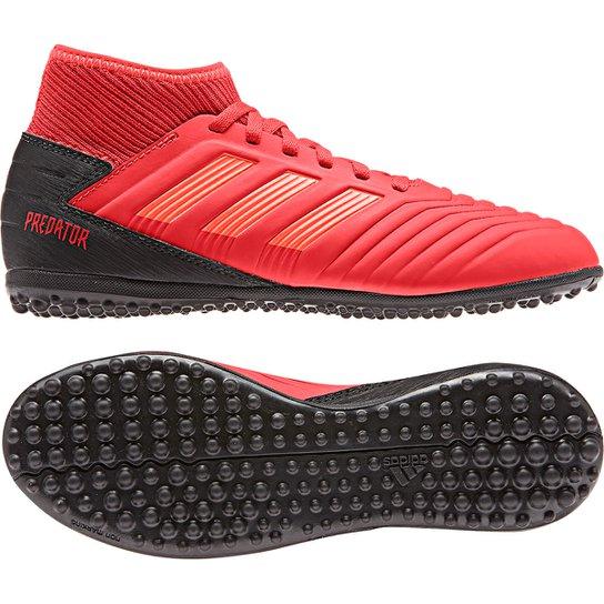 a4ca8282b8 Chuteira Society Infantil Adidas Predator 19 3 TF - Vermelho e Preto ...