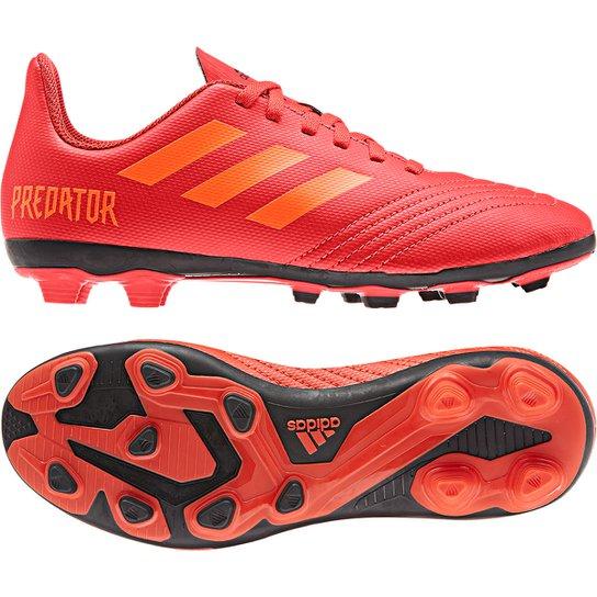 ee061d24a4b Chuteira Campo Infantil Adidas Predator 19 4 FG - Vermelho e Preto ...