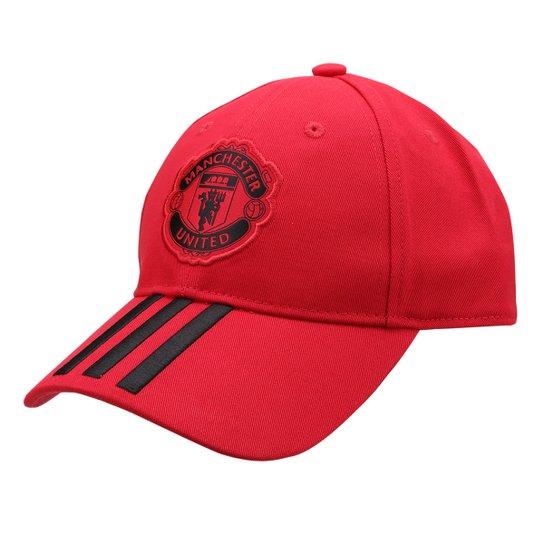 9da5e64a2447b Boné Adidas Manchester United C40 Aba Curva - Vermelho e Preto ...