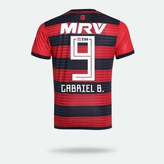 Camisa Flamengo I 2018 N° 9 Gabriel B. - Torcedor Adidas Masculina b39edf165b8e9