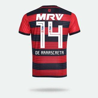753f02070 Camisa Flamengo I 18 19 n°14 De Arrascaeta - Torcedor Adidas Masculina
