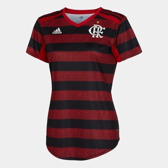 17e372ee42 Camisa Flamengo I 19 20 s n° Torcedor Adidas Feminina - Vermelho e ...