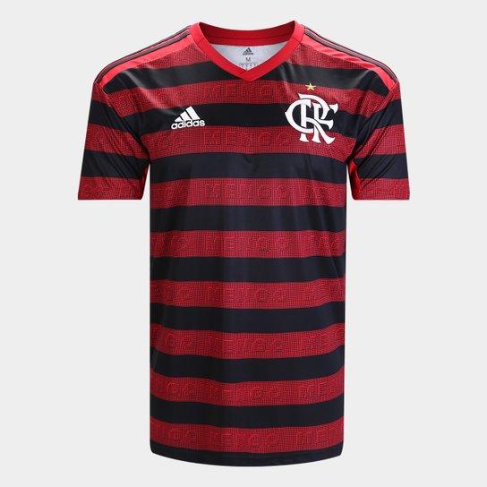 9e9f46bccb85d Camisa Flamengo I 19/20 s/n° Torcedor Adidas Masculina - Vermelho e ...