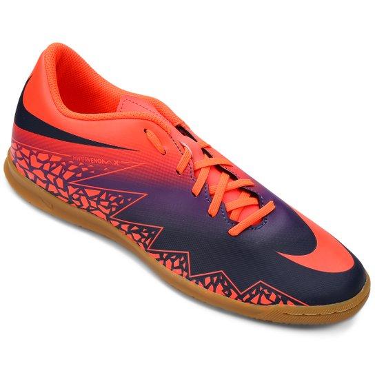 d43103aee3b49 Chuteira Futsal Nike Hypervenom Phade 2 IC - Roxo+Laranja