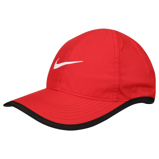 Boné Infantil Nike Aba Curva Featherlight - Vermelho+Preto 94c7766a30a