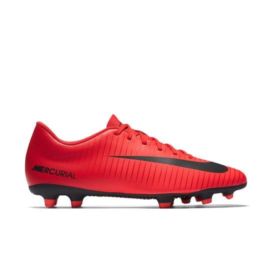 88a033dd97d39 Chuteira Campo Nike Mercurial Vortex 3 FG - Vermelho+Preto