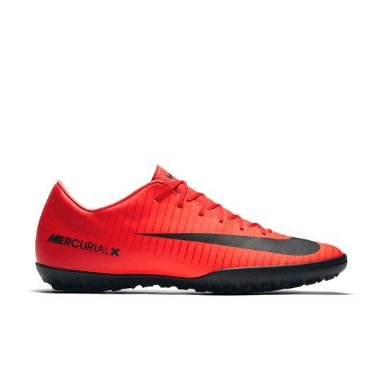 0136de029d Chuteira Society Nike Mercurial Victory 6 TF - Vermelho e Preto ...
