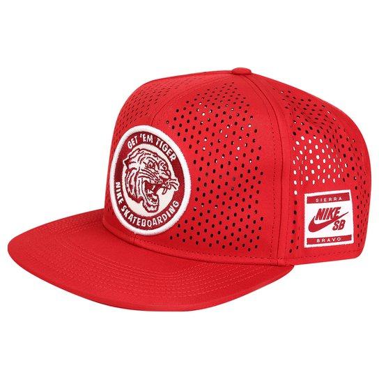 Boné Nike SB Tiger Perf Trucker - Vermelho+Branco 1e2d7ca08e4