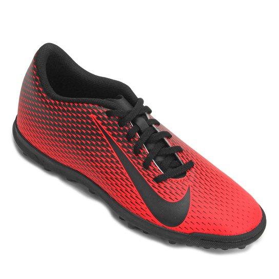 Chuteira Society Nike Bravata 2 TF - Vermelho e Preto - Compre Agora ... b78efb91702e0