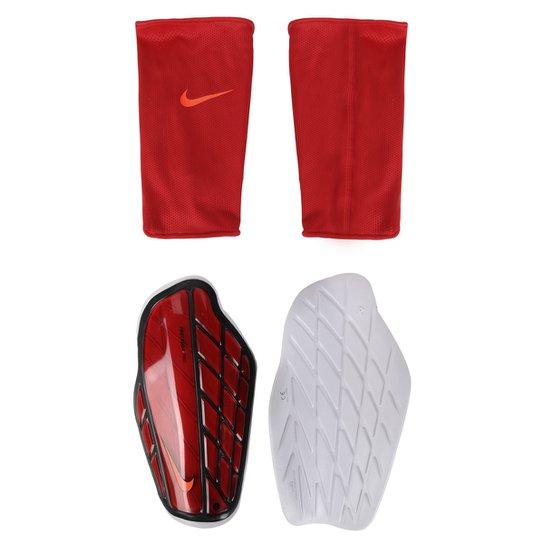 a48ce1dea2521 Caneleira Futebol Nike Protegga - Vermelho+Preto