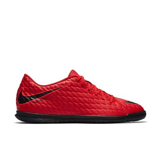 03519c3f9db23 Chuteira Futsal Nike Hypervenom Phade 3 IC - Vermelho+Preto