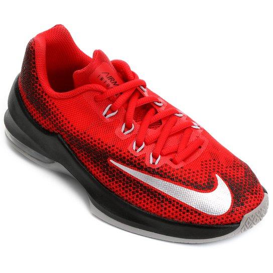 b9e234e61df Tênis Nike Air Max Infuriate Infantil - Vermelho+Preto