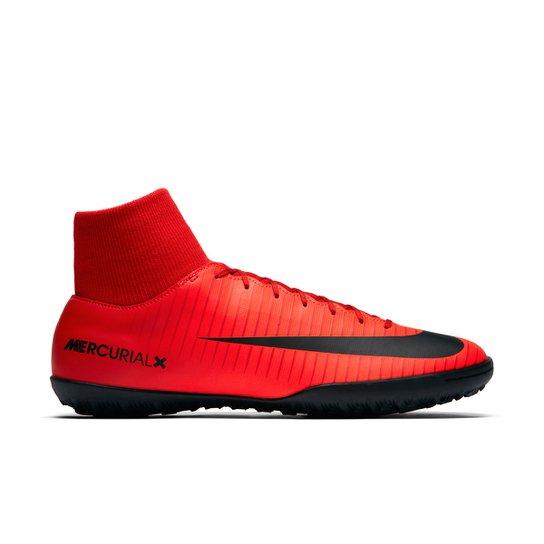 d343834fc7 Chuteira Society Nike Mercurial Victory 6 Dynamic Fit TF - Vermelho+Preto