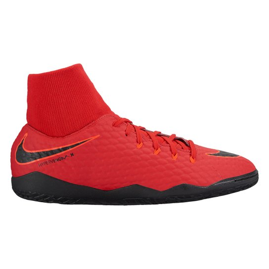 e554a5def893c Chuteira Futsal Nike Hypervenom Phelon 3 DF IC - Vermelho+Preto