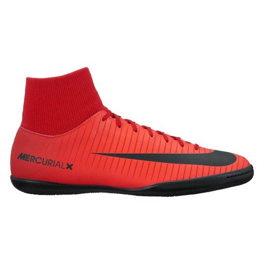 Chuteira Futsal Nike Mercurial Victory 6 DF IC - Vermelho e Preto ... 0cbfa616911bf