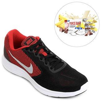 Kit Tênis Nike Revolution 3 + Force Bar Crisp 30g c  3 uni. - e4682413923be