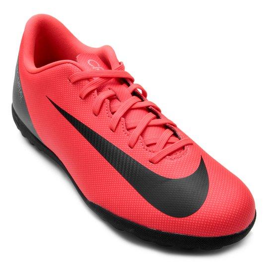 bde93dc4ac Chuteira Society Nike Mercurial Vapor 12 Club CR7 TF - Vermelho e ...