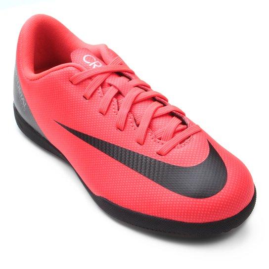 8960cbf1a012e Chuteira Futsal Infantil Nike Mercurial Vapor 12 Club GS CR7 IC -  Vermelho+Preto