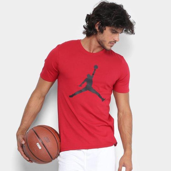 1d72679e020 Camiseta Nike Jordan Iconic Jumpman Masculina - Vermelho+Preto