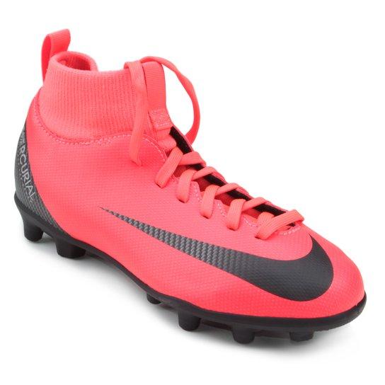 premium selection d0bf5 01b4f Chuteira Campo Infantil Nike Mercurial Superfly 6 Club CR7 FG -  Vermelho+Preto