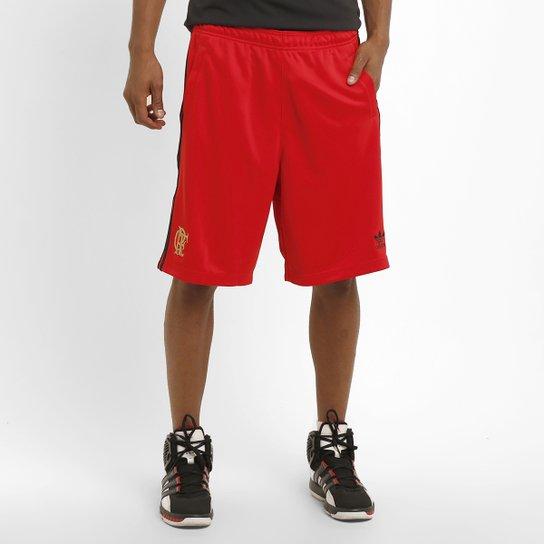 Short Adidas Basquete Flamengo - Vermelho+Preto 7ea6430803cf3