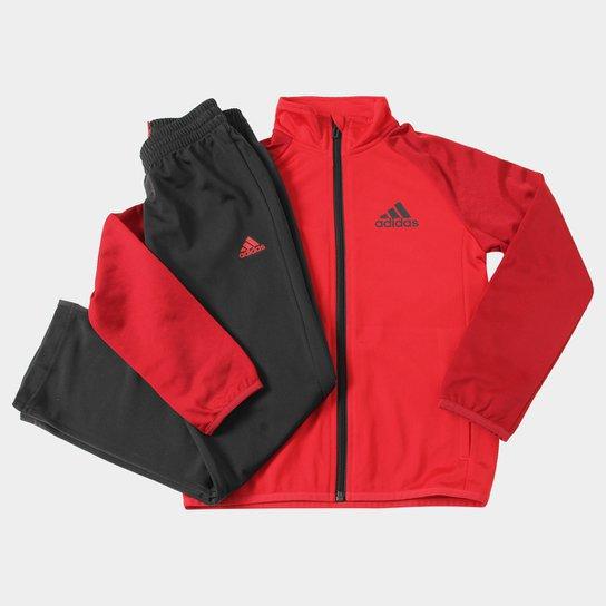 c56958ed81 Agasalho Adidas Yb Ts Entry Oh Infantil - Vermelho+Preto