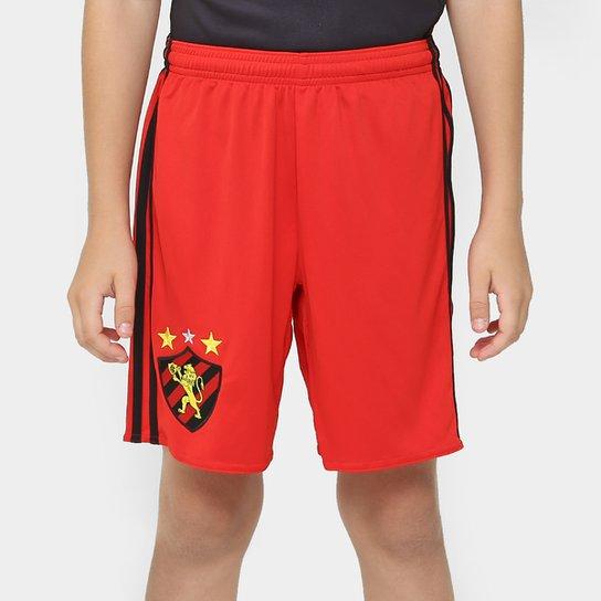 Calção Sport Recife Infantil 16 17 Adidas Masculino - Vermelho ... b8c22bce747e8