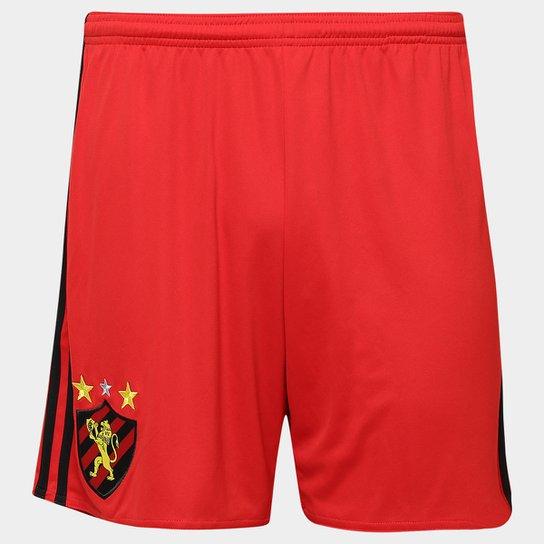 Calção Sport Recife 16 17 Adidas Masculino - Vermelho+Preto a3bc095dd0f70