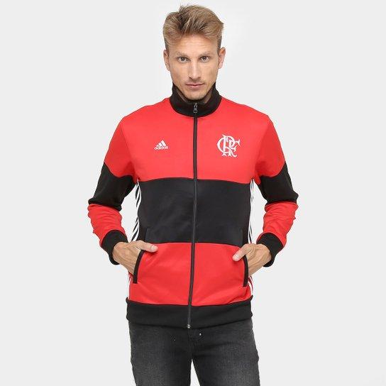 82e76034d3 Jaqueta Flamengo Adidas 3S Masculina - Vermelho+Preto