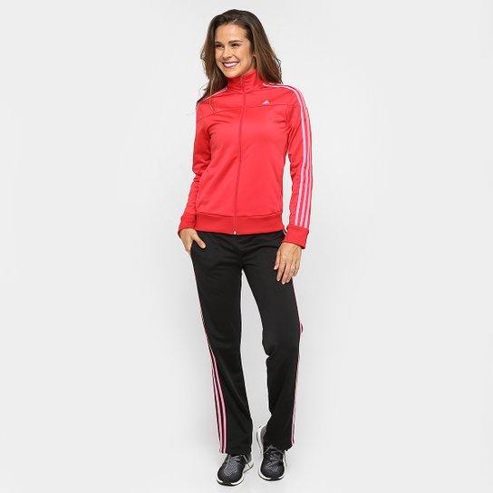 f02c2c161c Agasalho Adidas W Kn Ts 1 Feminino - Vermelho e Preto - Compre Agora ...