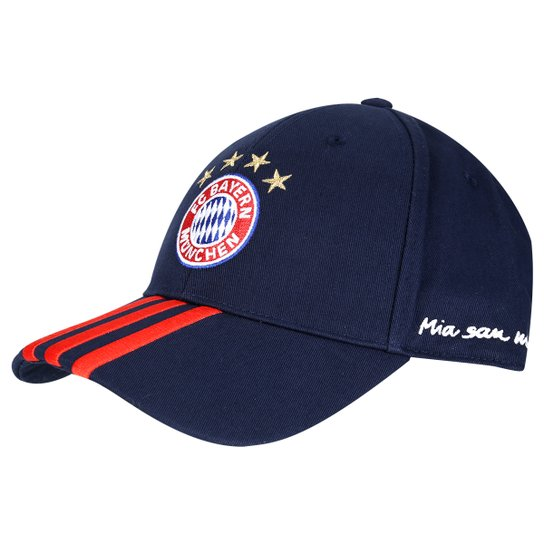 Boné Adidas Bayern de Munique 3S - Marinho+Vermelho 2a0798f3312