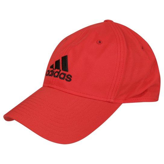 bfefc7dfd7819 Boné Adida Aba Curva Essentials Logo Masculino - Vermelho+Preto