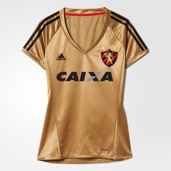 Camisa Sport Recife 2016 III s nº - Torcedor Adidas Feminina - Dourado d2964a20ed0a8
