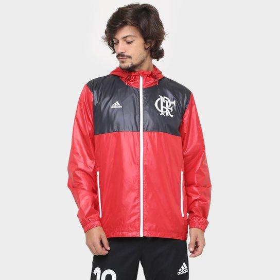 Jaqueta Flamengo Adidas Corta-Vento Especial Masculina - Vermelho+Preto 48e8075466da4