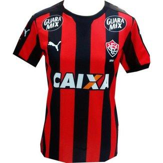 Camisa Vitória BA Feminina 2015 Uniforme I - Puma - Personalizada 1e45cb7d4e1aa