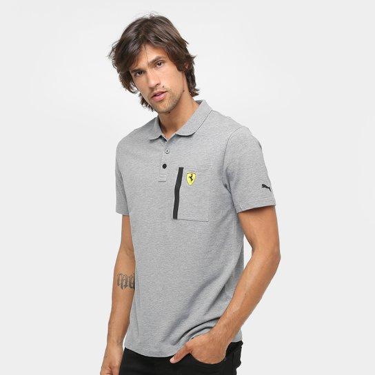 Camisa Polo Puma Scuderia Ferrari Masculina - Cinza - Compre Agora ... 65fd5de138c9b