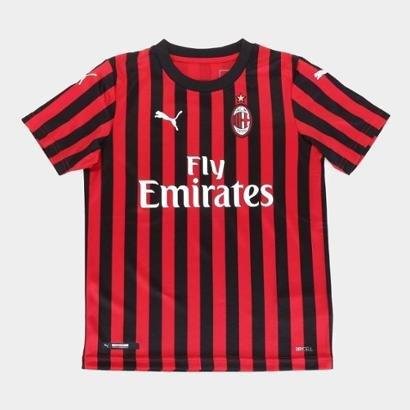 Camisa Milan Infantil Home 19/20 s/n° Torcedor Puma