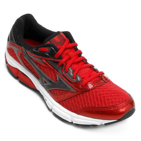 Tênis Mizuno Wave Impetus 4 Masculino - Vermelho e Preto - Compre ... 6e266bd3fd32c