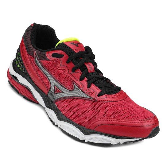 bf86230ddc104 Tênis Mizuno Wave Mirai Masculino - Vermelho e Preto | Netshoes