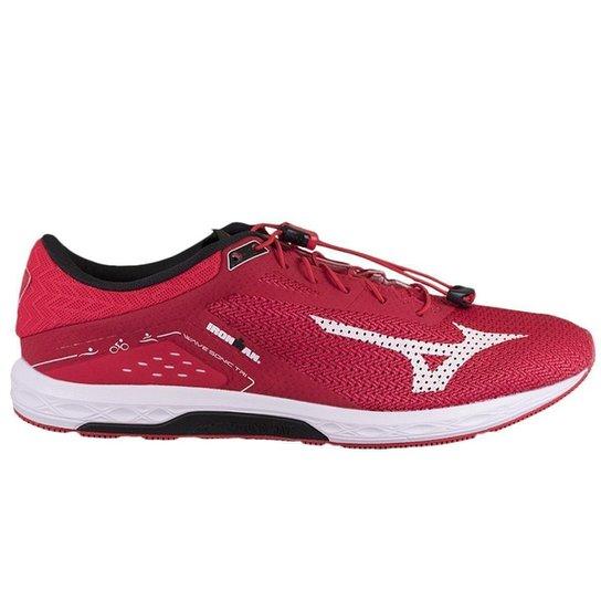 Tênis Mizuno Wave Sonic Tri Masculino - Vermelho+Preto 377001635f0