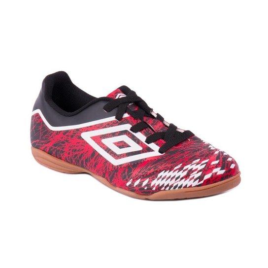 c3b195c8c6ed9 Tênis Umbro De Futsal Indoor Grass Ii Vermelho Preto Branco - Vermelho+Preto