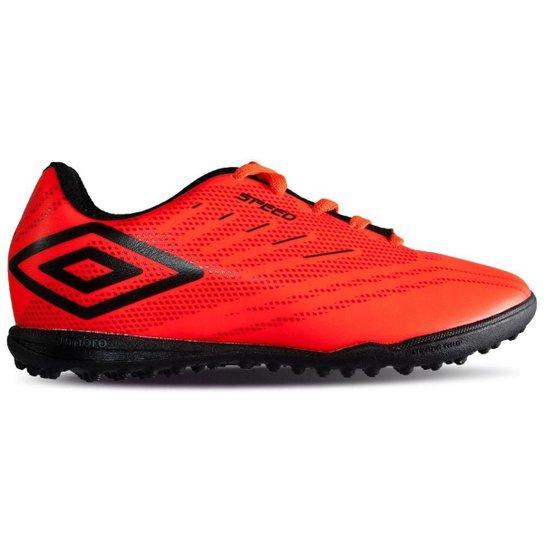 88e83f361 Chuteira Society Umbro Speed IV Infantil - Vermelho e Preto | Netshoes