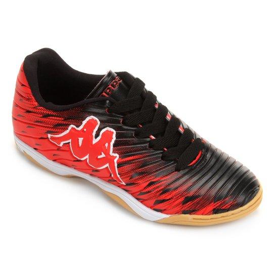 c2a7f4a214 Chuteira Futsal Infantil Kappa Thunder - Vermelho e Preto - Compre ...