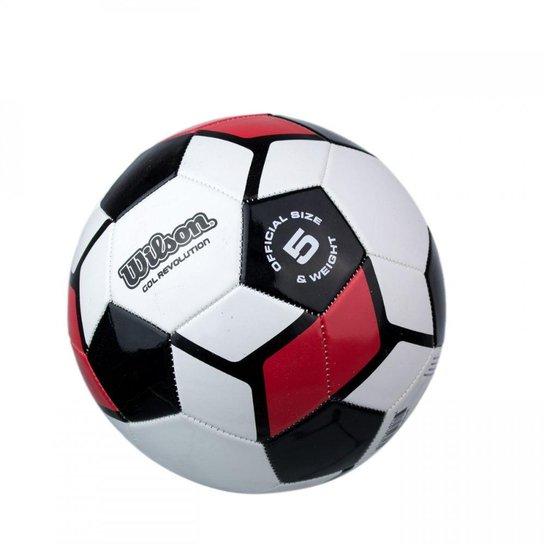 1dcc351e8 Bola de Futebol Gol Revolution  5 - Wilson - Vermelho+Preto