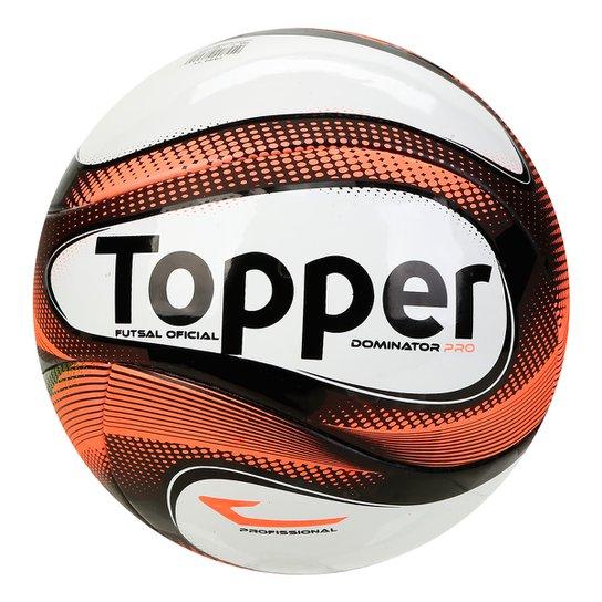 c2a4b80410a4f Bola Futsal Topper Dominator Pro 1 - Laranja e Preto - Compre Agora ...