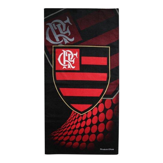 Toalha de Banho Flamengo Brasão - Vermelho+Preto 3dfff39318273