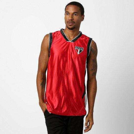 e8522ab174e1f Camiseta Regata São Paulo Trilobal Basket - Vermelho+Preto