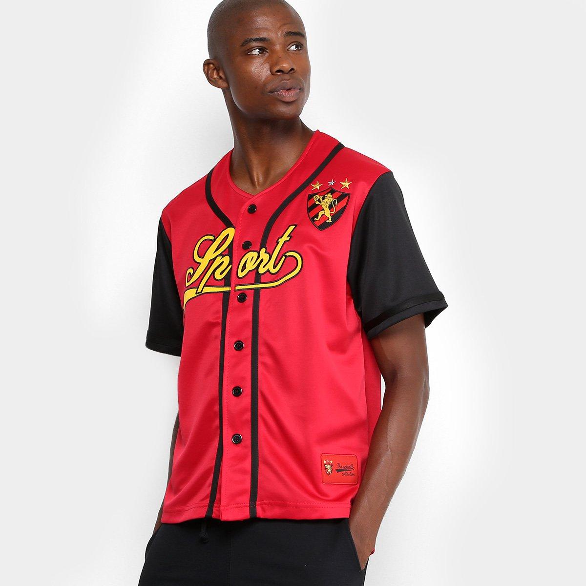 Camisa Sport Recife Baseball Masculina 018e30dbc56dd