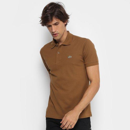 114f5e6d6bef4 Camisa Polo Lacoste Piquet Original Masculina - Cáqui - Compre Agora ...