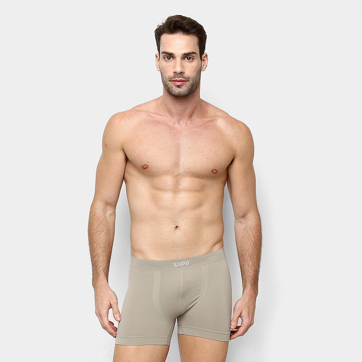 Cueca Boxer Sem Costura Lupo Masculina - Tam: P - 1